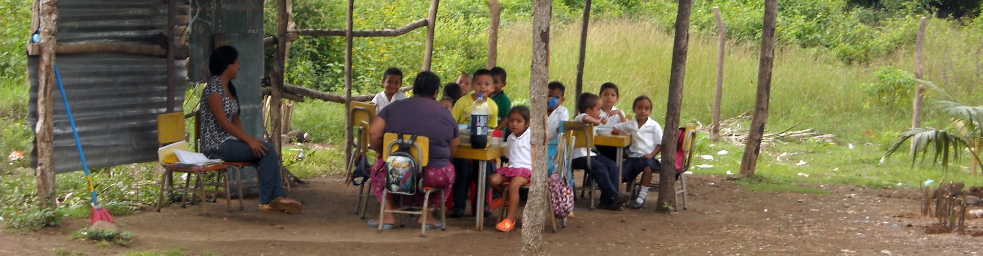 A Makeshift School in San Antonio, Cortes
